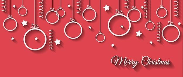 Bannière ou carte de voeux joyeuse noël pour vos invitations de saison