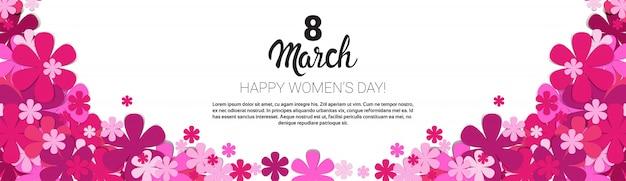 Bannière de la carte de voeux pour la journée internationale de la femme