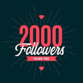 Bannière de célébration 2000 abonnés
