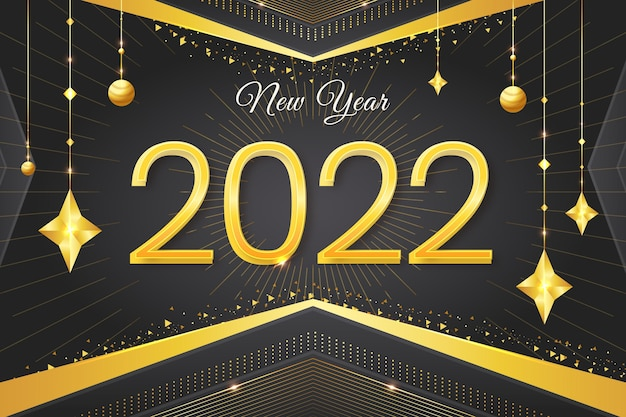 Bannière de célébration du nouvel an 2022