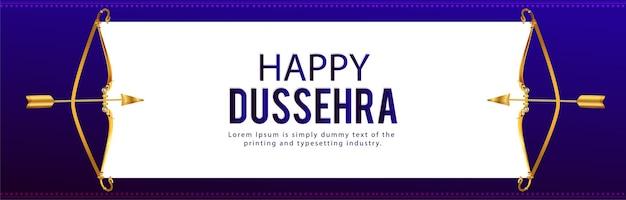 Bannière de célébration de dussehra joyeux festival indien