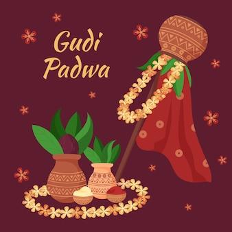 Bannière de célébration gudi padwa