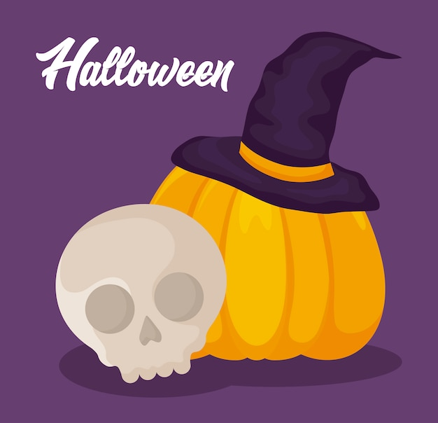 Bannière de célébration d'halloween