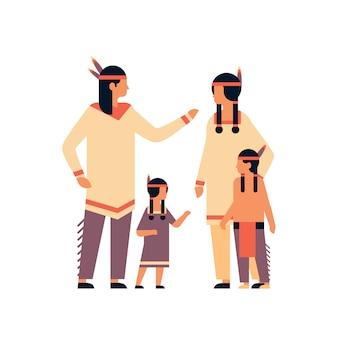 Bannière de célébration de jour de thanksgiving de la famille indienne
