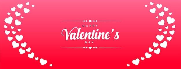 Bannière de célébration joyeuse saint valentin