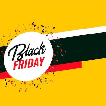 Bannière de célébration vendredi noir avec espace de texte