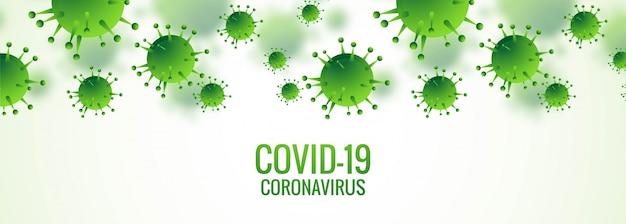 Bannière de cellules de coronavirus