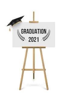 Bannière de cérémonie de remise des diplômes 2021, concept de récompense
