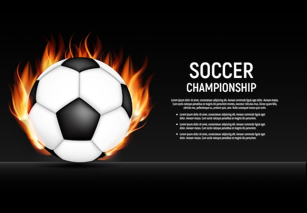 Bannière de championnat de football