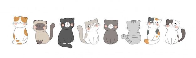 Bannière de chat mignon