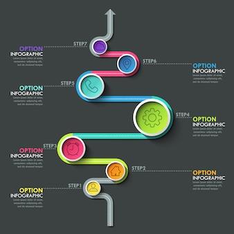 Bannière de chronologie de cercle d'affaires