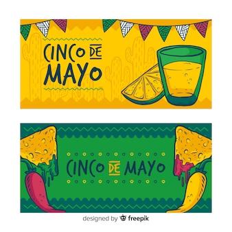 Bannière de cinco de mayo