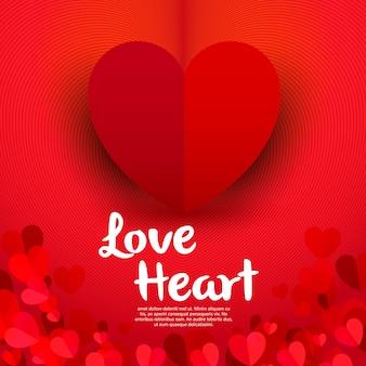 Bannière de coeur d'amour