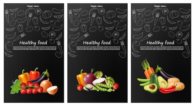 Bannière de collection de légumes