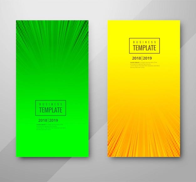 Bannière colorée abstraite définie le modèle de conception