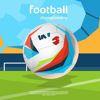Bannière colorée de championnat de football