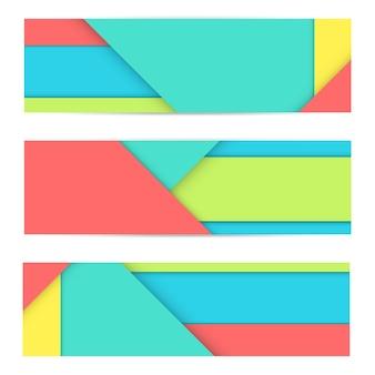 Bannière colorée de matériau moderne inhabituel