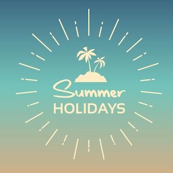 Bannière colorée de vacances d'été vacances tropicales