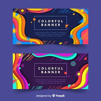 Bannière colorée