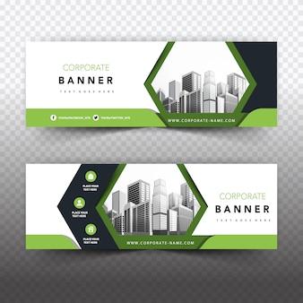Bannière commerciale verte