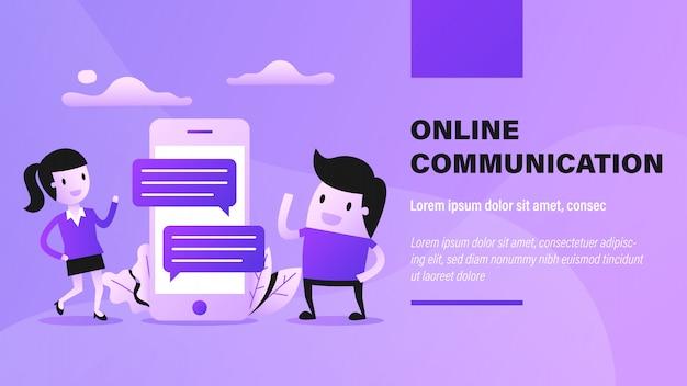 Bannière de communication en ligne