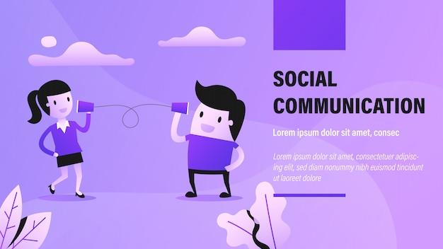 Bannière de communication sociale