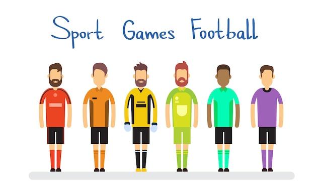 Bannière de compétition de match de football de sport d'équipe