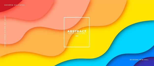 Bannière de composition de formes géométriques abstraites