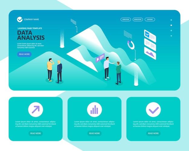 Bannière de concept d'analyse de données.