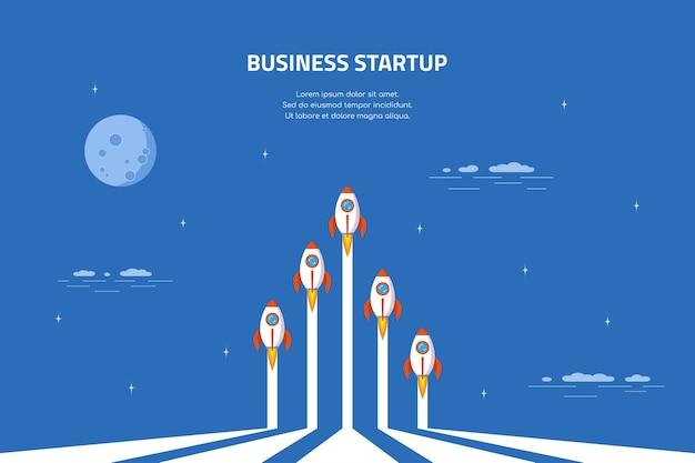 Bannière de concept de démarrage d'entreprise