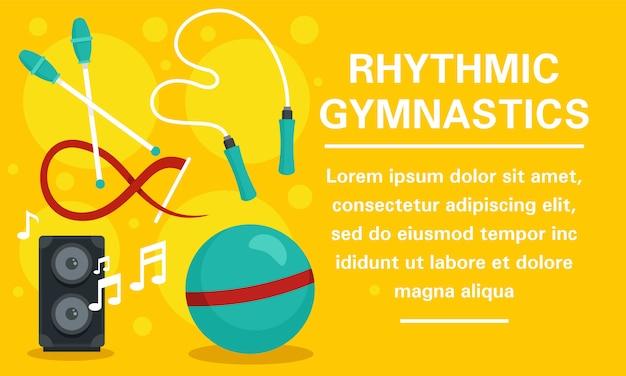 Bannière de concept de gymnastique rythmique moderne