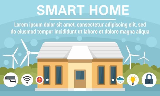Bannière de concept de maison intelligente eco