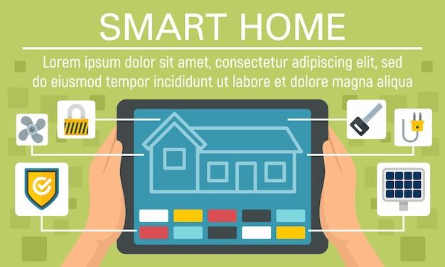 Bannière de concept de maison intelligente moderne
