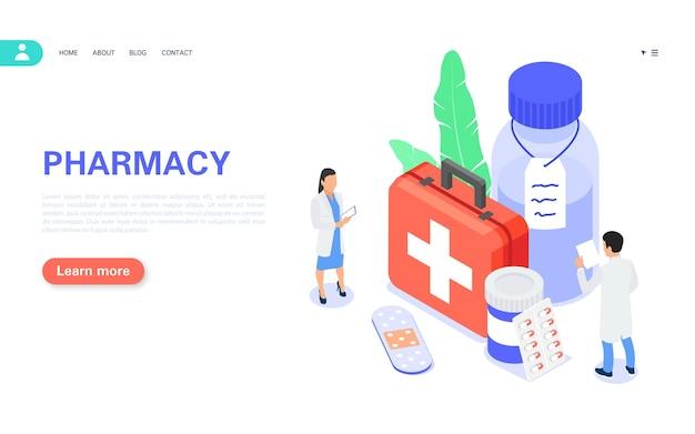 Bannière de concept de pharmacie acheter des médicaments en ligne