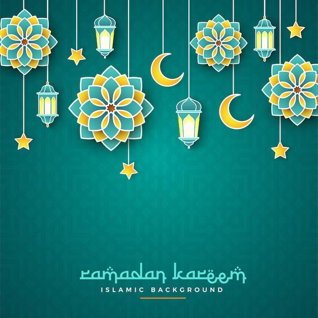 Bannière concept ramadan kareem