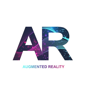 Bannière de concept de réalité augmentée.