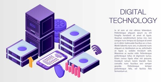 Bannière de concept de technologie numérique