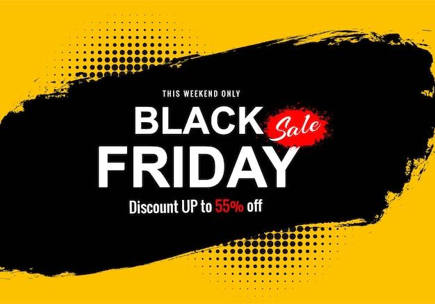 Bannière de concept de vente vendredi noir moderne