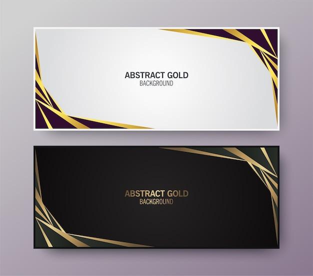 Bannière de conception abstraite élégante créative