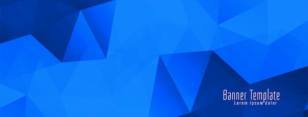 Bannière de conception abstraite polygone géométrique
