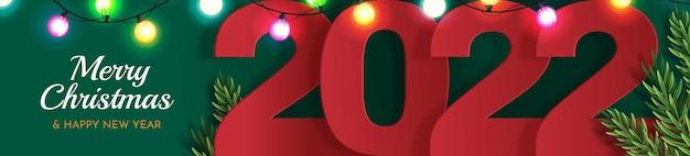 Bannière de conception de bonne année 2022.