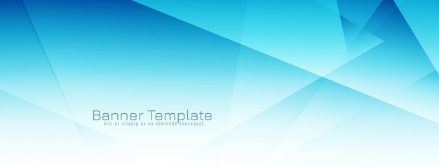 Bannière de conception géométrique de couleur bleue moderne