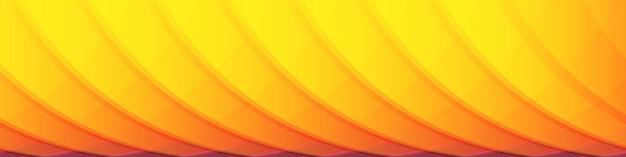 Bannière de conception graphique horizontale large motif radial orange et jaune