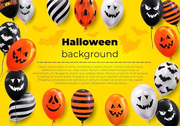 Bannière de conception de texte halloween heureux.
