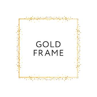 Bannière de conception de vecteur de minimalisme de forme géométrique de cadre doré