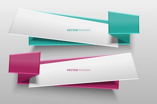 Bannière de conception de vecteur.
