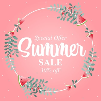Bannière de conception de vente d'été. abstrait géométrique de l'été. illustration