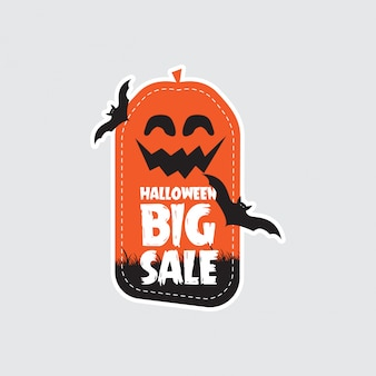 Bannière de conception vente halloween