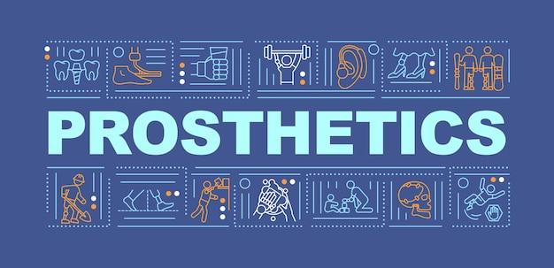 Bannière de concepts de mot de prothèse
