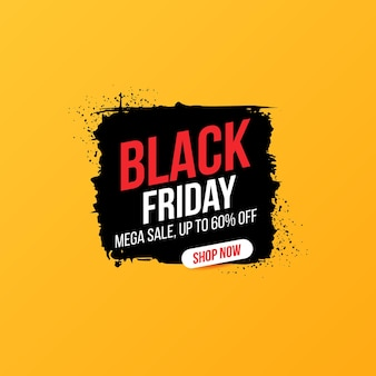 Bannière concise pour les ventes et les remises le vendredi noir.